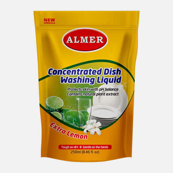 Almer Dish Wash Pouch Pack 250ml Front