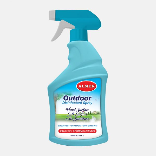 Almer Outdoor Disinfectant Spray 450ml front