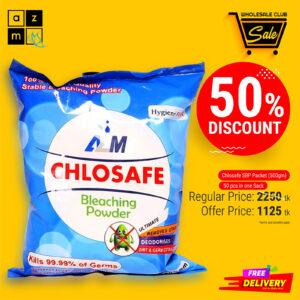 Chlosafe Bleaching Powder 500gm Packet (50 Pieces)