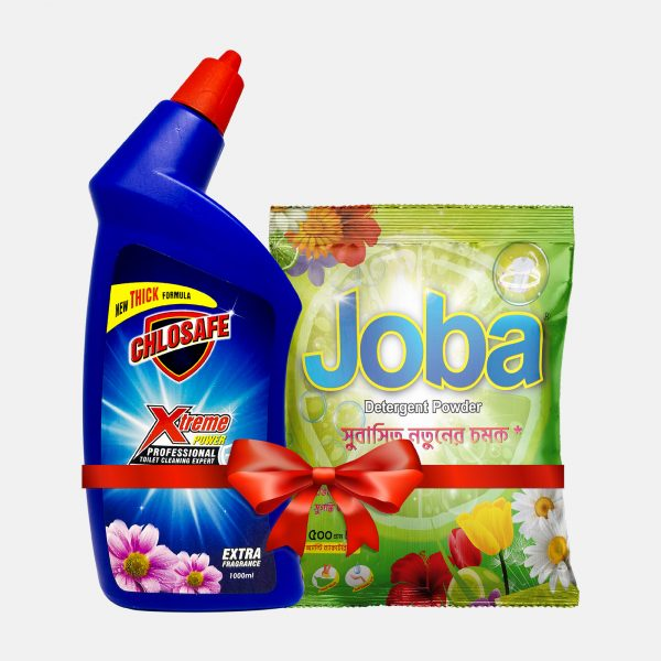 Chlosafe Toilet Cleaner 1ltr (Get Free Joba Detergent Powder 500gm)