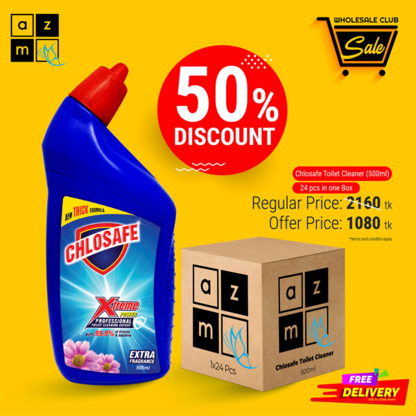 Chlosafe Toilet Cleaner 500ml (24 Pieces)
