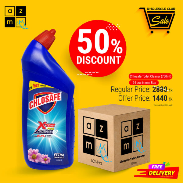 Chlosafe Toilet Cleaner 750ml (24 Pieces)