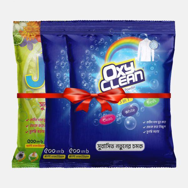 Oxyclean Detergent Powder 500GM (Buy 2 Get 1 500GM Joba Detergent Powder)
