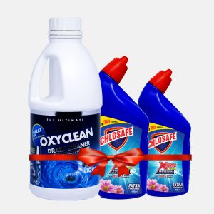 Oxyclean Drain Cleaner White 1ltr (2 Toilet Cleaner 500ml Free)
